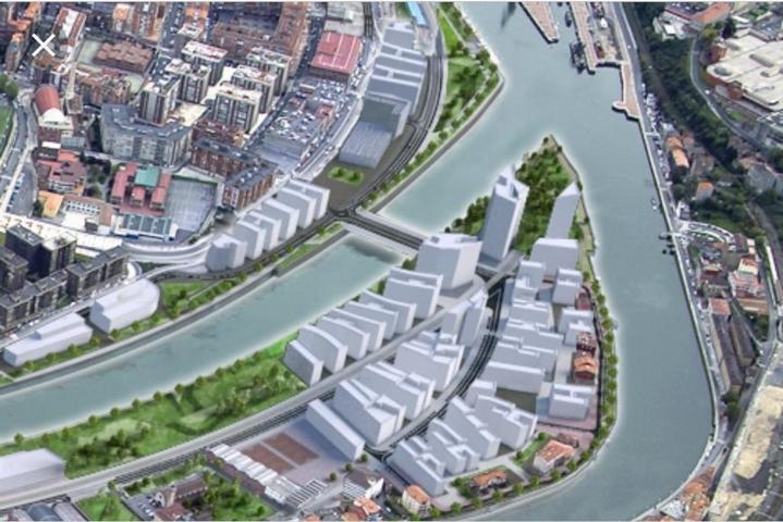 Se vende piso de nueva construcción de Zorrozaurre, Bilbao. Piso de 77 metros útiles. 2 habitaciones, principal con baño, salón-comedor con cocina americana, 2 baños completos, exterior con balcón. 240.000 € photo 0