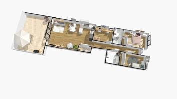 preciosa planta baja de 105 m2 más 50 de patio a pie de comedor A estrenar photo 0