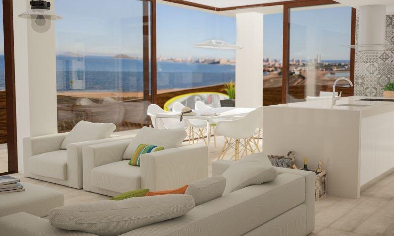 Apartamento vista al mar, 3 dormitorios, 2 baños, garaje, piscina en La Manga del Mar Menor photo 0