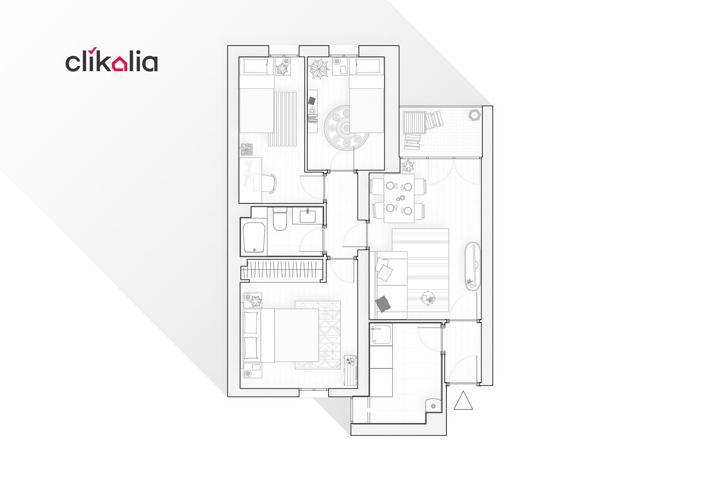 Clikalia vende piso exterior de 62m2 situado en la Calle Maqueda, a pocos metros de Avenida de los Poblados, en el barrio de Aluche perteneciente al distrito de Latina. Se encuentra en una 5ª planta sin ascensor y disfruta de ser un piso luminoso por su o photo 0